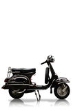 Wijnoogst motobike op witte achtergrond Stock Afbeeldingen