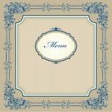 Wijnoogst ontworpen menu Royalty-vrije Stock Fotografie