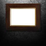 Wijnoogst photoframe met grungeachtergrond Royalty-vrije Stock Foto's