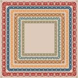 Wijnoogst van het patroon de uitstekende vierkante kader Stock Afbeeldingen