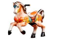Wijnoogst vrolijk-gaan-om paard Stock Afbeeldingen