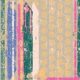 Wijnoogst wallpape in gestreept Stock Afbeelding