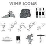 Wijnpictogrammen Royalty-vrije Stock Afbeelding