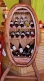 Wijnshowcase Stock Afbeeldingen