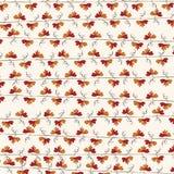 Wijnstok van het de herfst herhaalt de rode blad patroonachtergrond Vector Illustratie