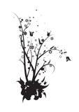 Wijnstokken en bladeren royalty-vrije illustratie