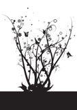 Wijnstokken en bladeren stock illustratie