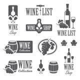 Wijntekens royalty-vrije illustratie