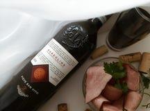 Wijntijd, wijnminnaars, stillife, voedsel, foodporn Royalty-vrije Stock Afbeelding