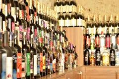 Wijnwinkel royalty-vrije stock afbeeldingen