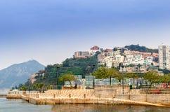 Wijs Baai in Hongkong af royalty-vrije stock afbeeldingen