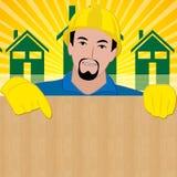 Wijst het bouwers Lege Teken Bouw op 3d Illustratie royalty-vrije illustratie