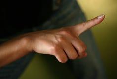 Wijsvinger stock fotografie