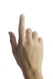 Wijsvinger royalty-vrije stock afbeelding