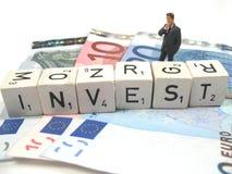 Wijze investering Stock Foto