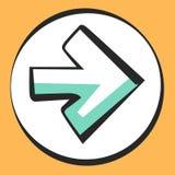 Wijzerpictogram voor app en Web Vectorpop-artteken of knoop Stock Fotografie