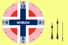 Wijzerplaat - Noorwegen royalty-vrije illustratie