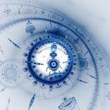 Wijzerplaat van horloge Tijdmachine Mechanisme van eeuwigheid vector illustratie