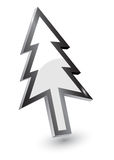 Wijzers, de boomversie van Kerstmis stock illustratie