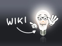 Wiki Bulb Lamp Energy Light gray. Idea Background royalty free stock photos