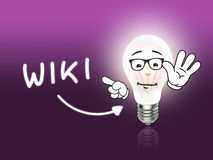 Wiki Bulb Lamp Energy Light pink Stock Photo