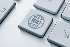 Wikipedia button stock photo