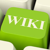 Wiki Computer Key For Online Information Stock Photos