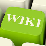 Wiki Computer Key For Online Information Or Encyclopedia Stock Photo