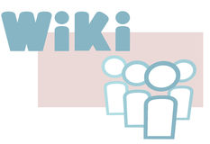 Wiki information people symbols design elements Stock Photo