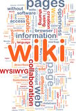 Wiki pages background concept. Background concept wordcloud illustration of wiki pages Royalty Free Stock Photography