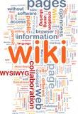 Wiki pagina il concetto della priorità bassa Fotografia Stock Libera da Diritti