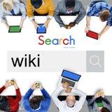 Wiki strony internetowej bazy danych klucza wiedzy informaci pojęcie Zdjęcie Stock