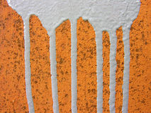 Wikileaks conception. Old rusty metal surface with paint leaks Royalty Free Stock Photography