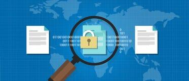 Wikileaks-Dokument leckte geheimen vertraulichen digitalen Schutz vektor abbildung
