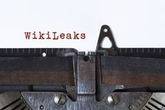 WikiLeaks imagem de stock