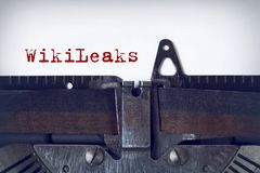 WikiLeaks royalty-vrije stock foto