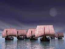 Wikinger-Flotte stockfotografie