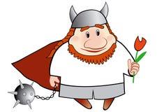 Wikinger-Karikaturabbildung Stockfotos