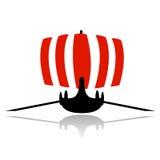 Wikinger-Lieferungssegelbootvektor Stockfoto
