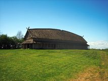 Wikinger Longhouse Stockfotos