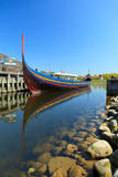 WikingerLongboat in Roskilde lizenzfreies stockbild