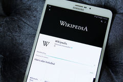 Wikipedia APP Photo libre de droits
