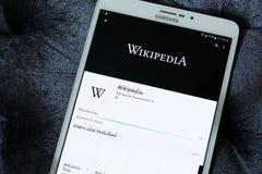 Wikipedia app Royalty Free Stock Photo