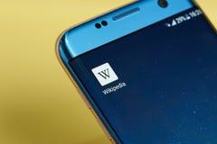 Wikipedia application icon Stock Photos