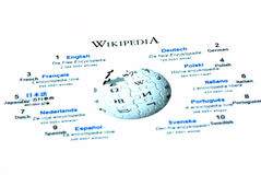 Wikipedia homepage Stock Photos