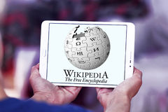 Wikipedia logo Stock Photos