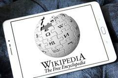 Wikipedia logo Royalty Free Stock Photo