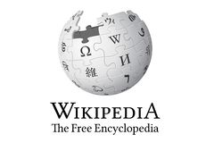 Wikipedia Logo. On a white background. vector format available stock illustration