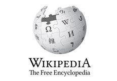Wikipedia Logo stock illustration