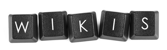 Wikis - keyboard button Royalty Free Stock Photography